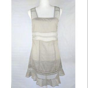 Anthro Fleurette Semi-Sheer Silk Cotton Dress $128